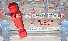 +++ NEU Original Leonhart Kicker Soccer Tischfußball Figur LEO, rot +++