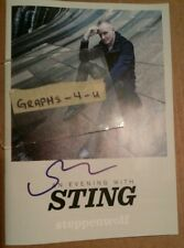 STING SIGNED THE POLICE AUTOGRAPH COA THE LAST SHIP
