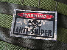 "SNAKE PATCH ..:: WARNING ANTI-SNIPER ::.. AIRSOFT PAINTBALL US "" ACU DIGITAL """