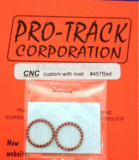 Pro Track Red Beadlock Ring CNC custom with rivets for 1/24 Slot Car Tires