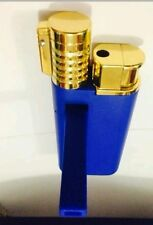 New Lighter and Pipe in One Smoking Pipe and Lighter BLUE