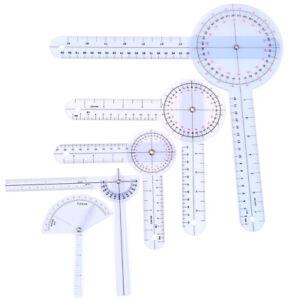 1Pcs Medical Spinal Ruler Finger Goniometer Angle Protractor 12/8/6 Inch Rule Qe