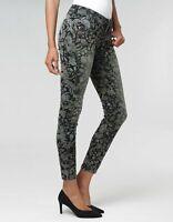 Gang FAYE Skinny Fit Cropped Hose , Size: W26 -to- W31 / green barock