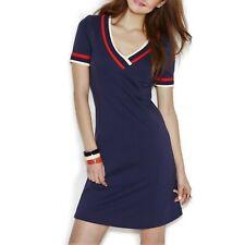 Tommy Hilfiger Zooey Women's Short-Sleeve V-Neck Sports Dress, Size 2, NWT $149