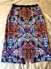 Milly DesignNation Foral Umbrella Pencil Skirt Size Small