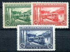 SAN MARINO 1932 180-182 ** POSTFRISCH TADELLOS ELEKTRISCHE EISENBAHN 55€(F4210