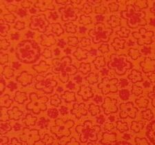 Red on Orange Floral by Fabric Traditions BTY Blender Tone on Tone