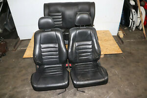 97-01 Honda Prelude Front & Rear leather Black seats