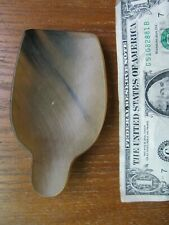 SUPER RARE, Antique REVOLUTIONARY WAR PERIOD CARVED HORN SCOOP, Hearth Americana