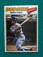 1977 Topps Cloth Sticker RON CEY Dodgers Baseball Card #14 SET BREAK NM-MT