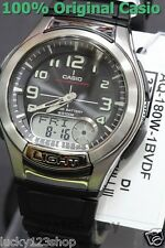 AQ-180W-1B Casio Analog Digital Men's Watch 10 Year Battery BLACK Plastic New