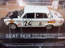 1/43 SEAT 1430 RALLYE MONTE CARLO  SERVIA 1977 IXO ALTAYA  NEUVE boîte d'origine