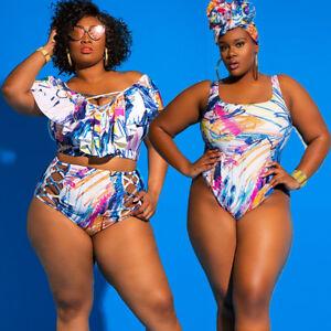 Brazilian Plus Size Bathing Suit Swimwear Bikini Set Monokini Swimsuit Beachwear