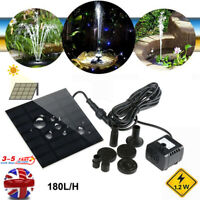 Solar Fountain Pump Water Feature Garden Pool Pond Fountain Submersible Pump Kit