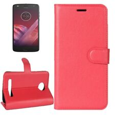 Cover Wallet Premium Red For Motorola Moto Z2 Play Case Cover Pouch Protective