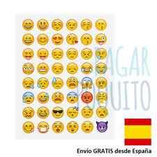 Pegatinas emoticonos caras smile emoji WhatsApp sticker scrapbooking decoracion