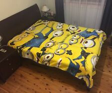 All Season Double Size Faux Mink Fur Blanket Soft Throw - Despicable Me Minion