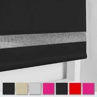 Stylish Easy Fit Diamond Diament Trim Straight Edge Roller Blinds Window Blind