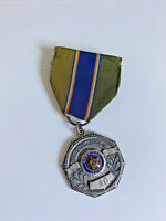Vintage US History American Legion '61 Medallion Pin Ribbon Medal Sterling Badge