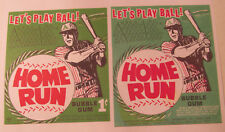 Home Run Baseball Bubble Gum '60s Vending Machine Card Photocopies