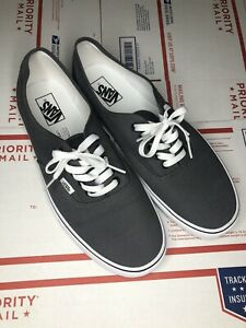 Vans Authentic Gray Mens Size 12 Lowtop