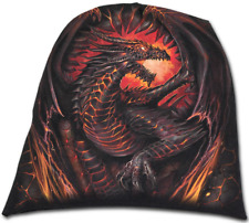 Spiral Direct DRAGON FURNACE - Light Cotton Beanie Black, Hat, fire, gothic