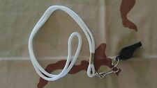 USN US NAVY USCG COAST GUARD SP SHORE PATROL POLICE SIGNAL WHISTLE LANYARD WHITE