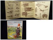 Cartoncino Pubblicitario - Fratelli Martinelli - Modena 1933