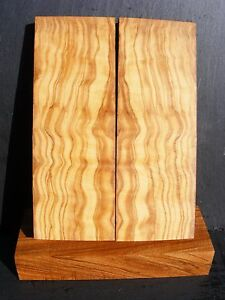 Olive Wood book matched Handle Scales Knife Making