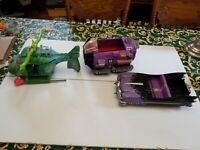 Vintage TMNT Vehicle  Module Drill Turtle Helicopter 1980s Playmates