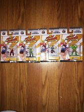 Nano Metalfigs Street Fighter Lot Of 4 Ken Guile Chun-li Blanka NIB New Die Cast