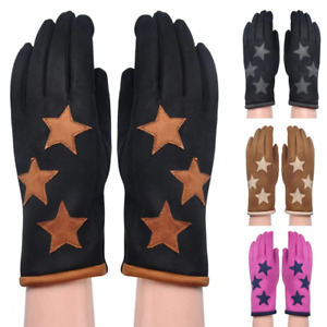 Women Winter Gloves Driving Training Vintage Thermal Ladies Clycling Boxing Set