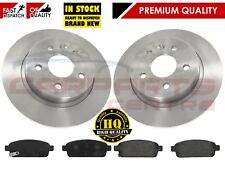 FOR VAUXHALL ASTRA J 1.3 1.4 1.6 CDTi 2009- REAR SOLID BRAKE DISCS PADS 268M