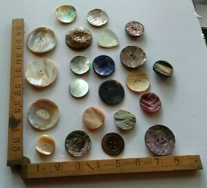 Vintage Mother of Pearl Buttons Good Selection for Crafts Jewellery or Inlay  #3