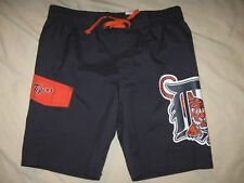 Detroit Tigers Swim Trunks Youth 7 Boys Kids Swimsuit Board Shorts MLB Baseball