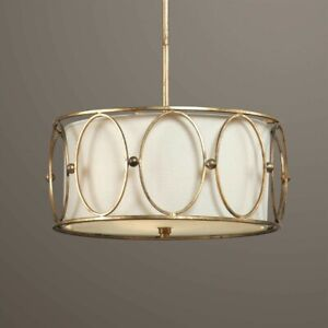 Uttermost 21955 Ovala Quality Materials 3-Light Fixtures Combine Pendant