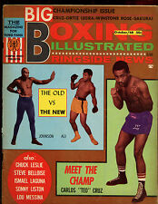 October 1968 Boxing Illustrated Magazine Muhammad Ali Front Cover EX