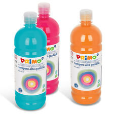 TEMPERA PRONTA 1 LITRO PRIMO COLORI A TEMPERA LIQUIDA 1000 ML COLORI ASSORTITI
