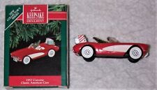 1991 Hallmark Keepsake Ornament 1957 Corvette Classic American Cars #1