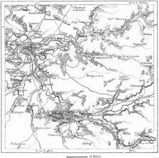 France. paris aqueducs, croquis cartographique c1885 old antique vintage plan graphique