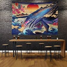 Sunset Tapestry Japanese Wall Hanging Art Geisha Tapestries Home Room Decor New