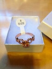 BRAND NEW 18K Rose Gold  Filled Cubic Zirconia Ring - gift box included