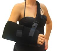 Shoulder & Arm Sling Immobilizer w/ Abduction Pillow & New Comfortable Hand Grip