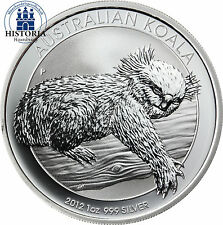 Australien 1 Dollar Silber 2012 Koala Serie: Schlafender Koala 1 Oz Silbermünze