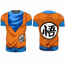 Dragon Ball Z Men Compression T-Shirt Goku Sports Fitness Costume Size : XL