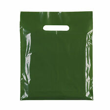 "New Strong PLASTIC CARRIER BAG Heavy Duty Handle 10""x12"" All Colour Fashion GIFT"