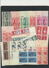 Airmail Plate Block Collection 27 Diff Mint NH $80+ Retail Value Spanning 43 yrs
