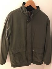 DOCKERS Men's Medium Green Lined Jacket VGUC FREE SHIPPING