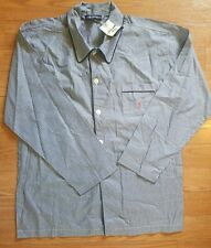 NWT Polo Ralph Lauren Pajama Top Shirt  Sleep Shirt Demin Blue Size L