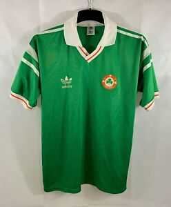 Ireland Home Football Shirt 1988/90 Adults Large Adidas B945